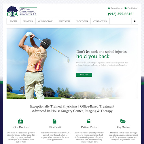 New Chatham Orthopaedics Website