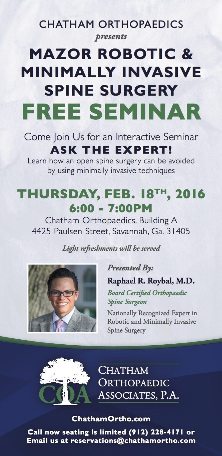 Dr. Roybal Hosts Mazor Robotic & Minimally Invasive Spine Surgery Seminar